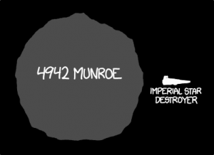 From now on, whenever Randall Munroe enters the room, somebody should be playing the Imperial March. Dun dun dun dun-dun-dun, dun-dun-dunnnn.