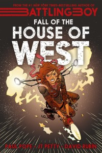 "The promo image says ""Fall of the House of West"", but the review copy I have shows ""The Fall of the House of West"". Close enough, either way."